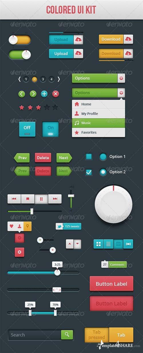 GraphicRiver Colored UI Kit