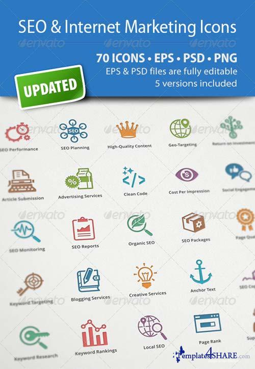 GraphicRiver SEO & Internet Marketing Icons
