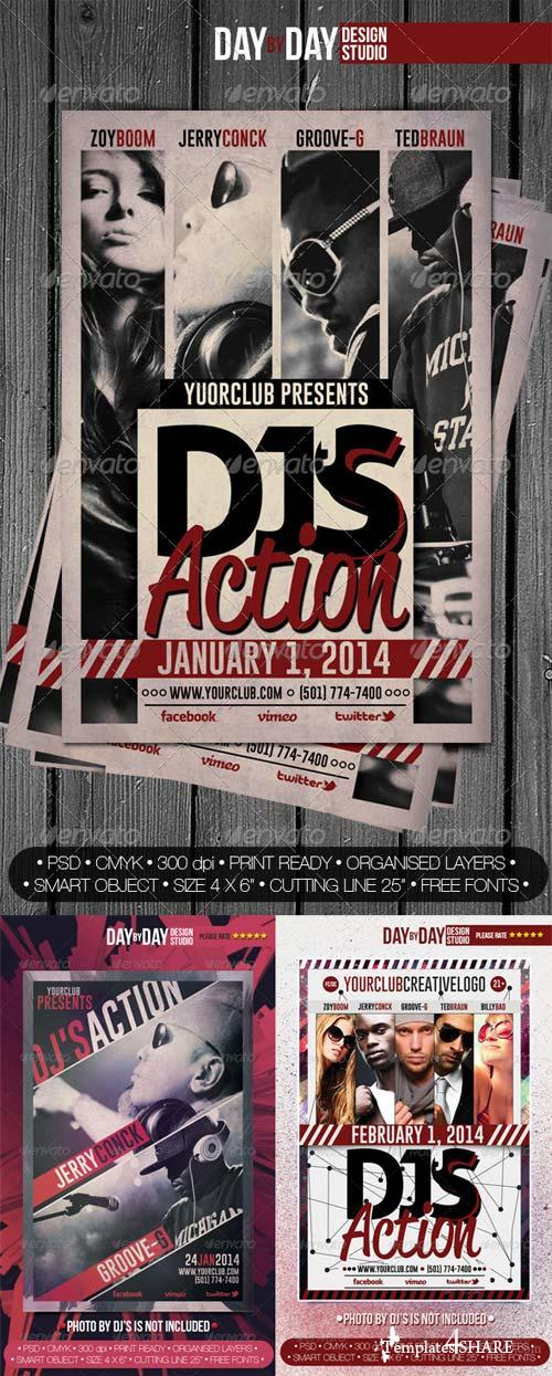 GraphicRiver DJ's Action Bandle