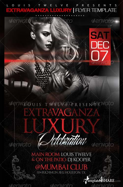 GraphicRiver Extravaganza Luxury Party | Flyer Template