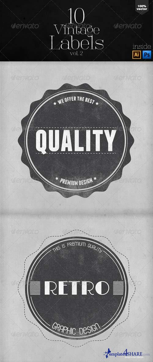 GraphicRiver Vintage Labels and Badges Vol.2