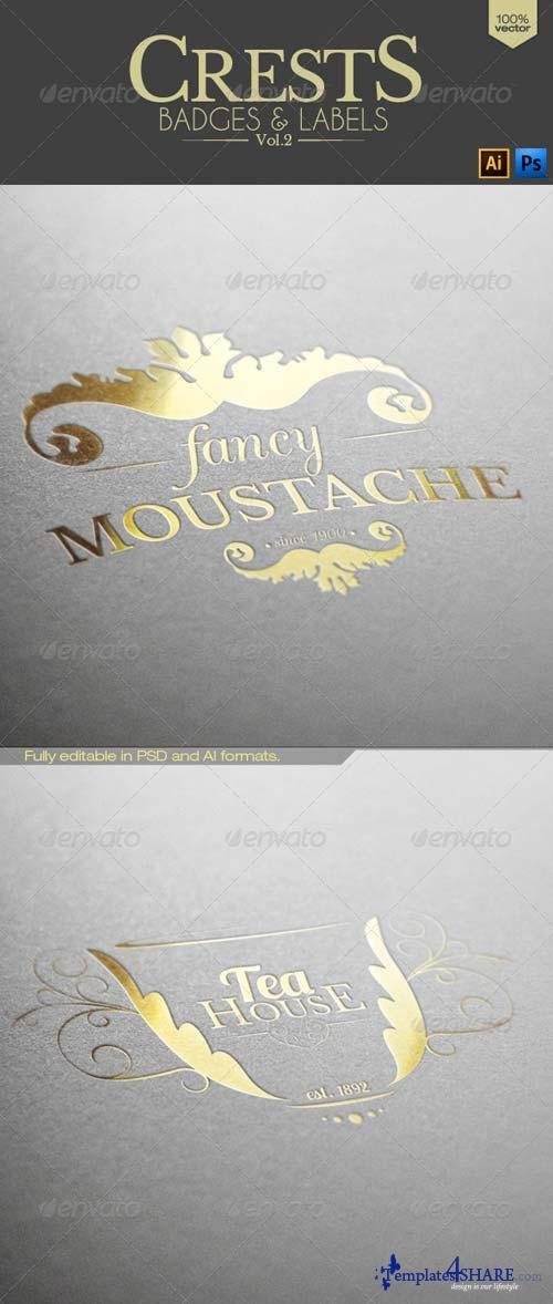 GraphicRiver Crests Badges and Labels Vol.2
