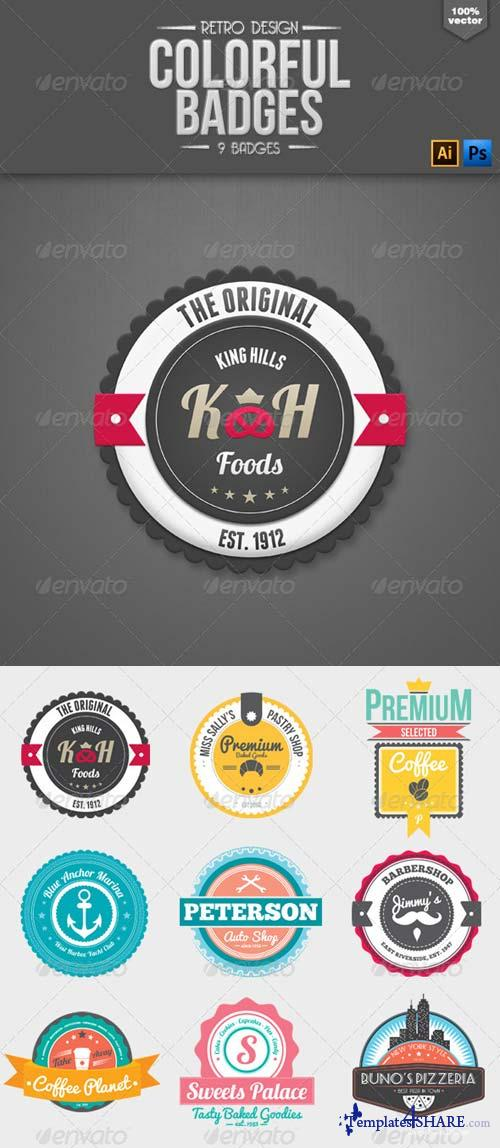 GraphicRiver Retro Colorful Badges