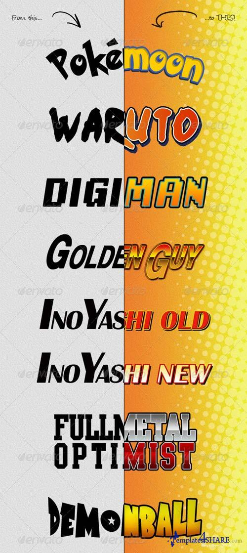 GraphicRiver Photoshop Text Styles / Anime And Manga
