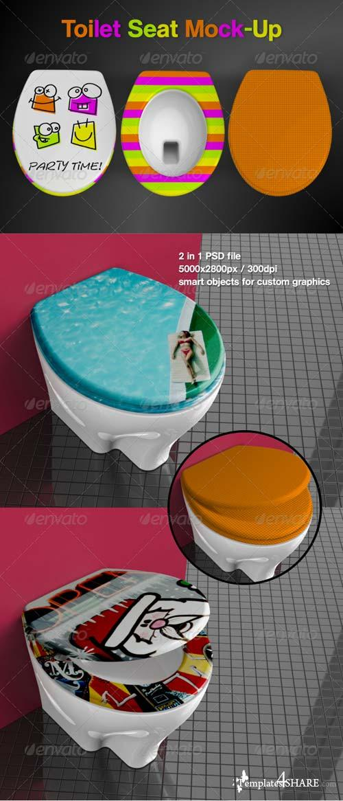 GraphicRiver Toilet Seat Mock-Up