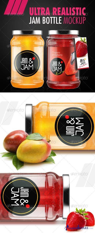 GraphicRiver Realistic Jam Bottle Mock-ups