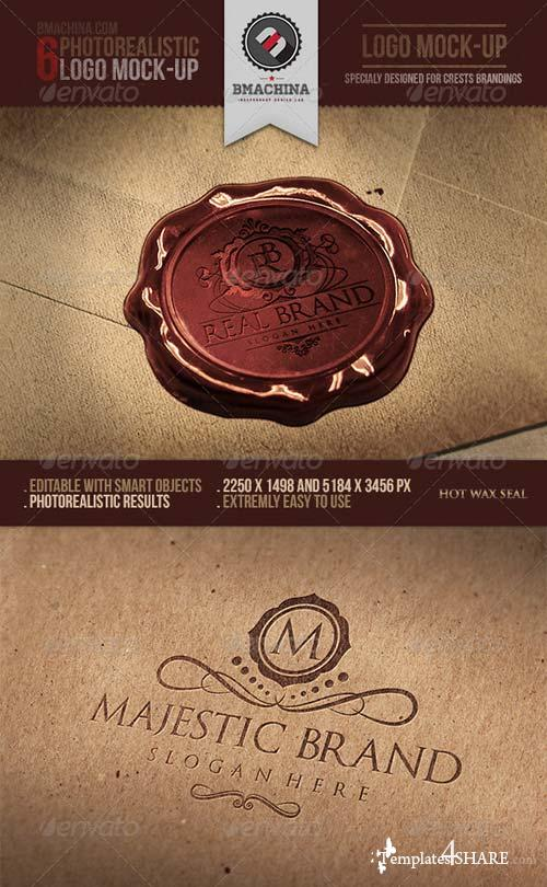 GraphicRiver Photorealistic Crests Logo Mock-Ups