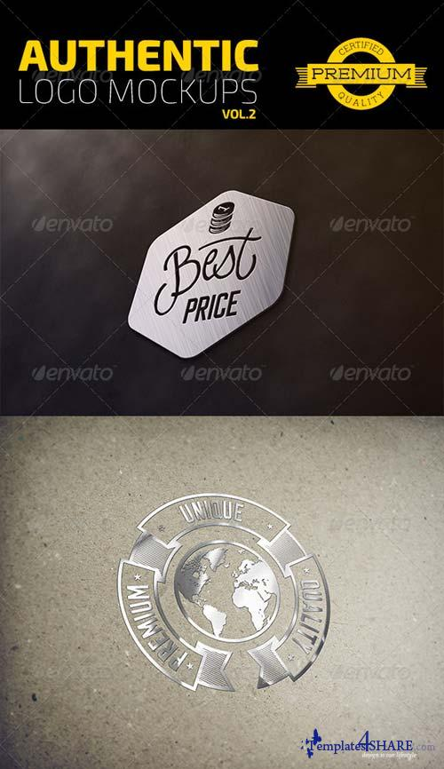 GraphicRiver Authentic Logo Mockups Vol. 2