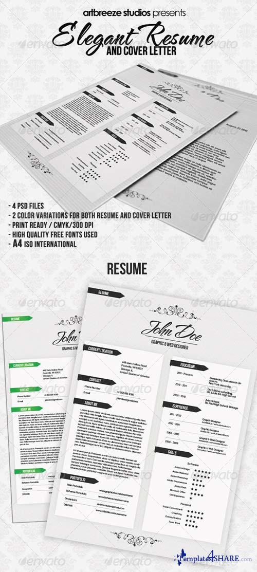 GraphicRiver Elegant Resume and Cover Letter