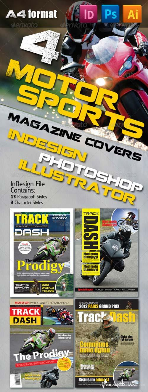 GraphicRiver 4 Motorsports Magazine Covers