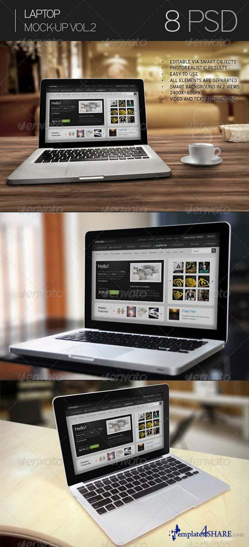 GraphicRiver Laptop Mock-Up 7364363
