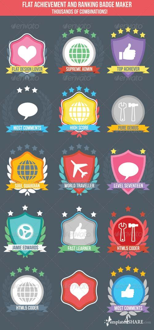 GraphicRiver Flat Badge Maker for Ranking or Achievement