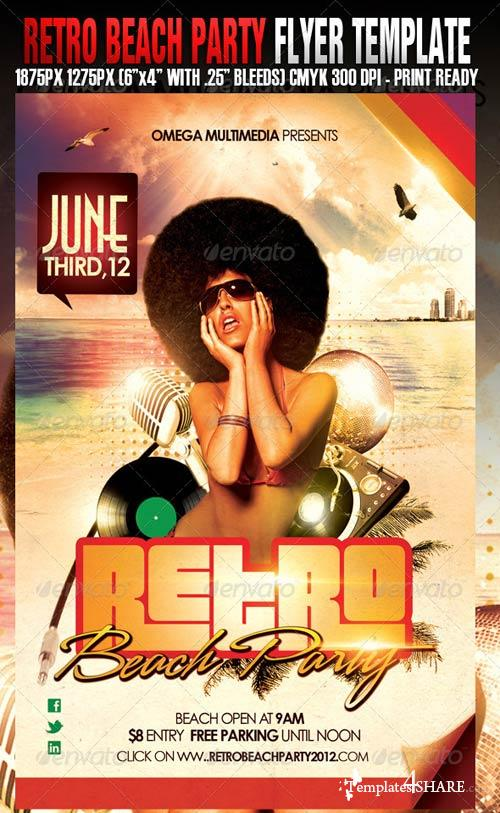 GraphicRiver Retro Beach Party