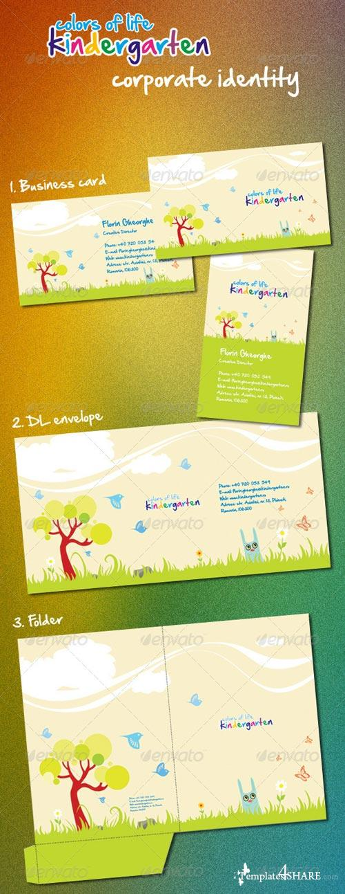 GraphicRiver Kindergarten Corporate Identity