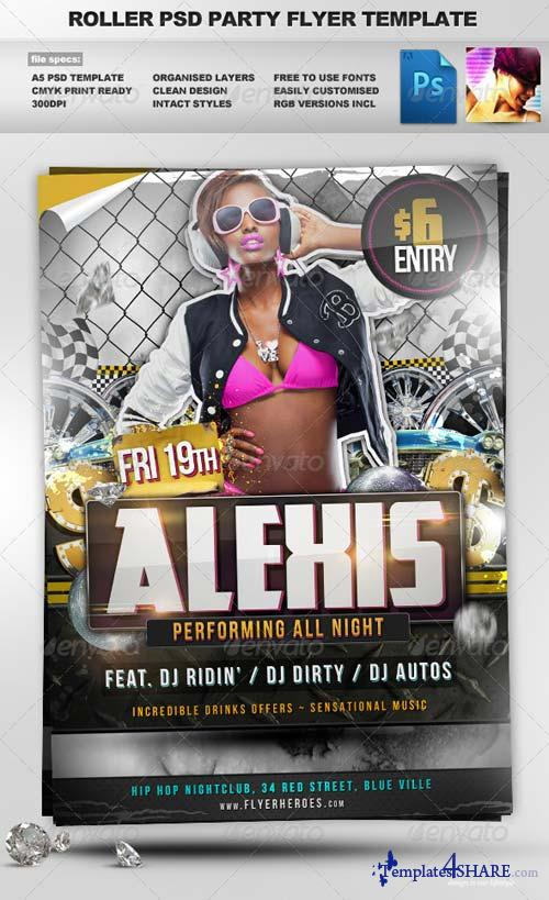 GraphicRiver Roller - Hip Hop style PSD Party Flyer Template