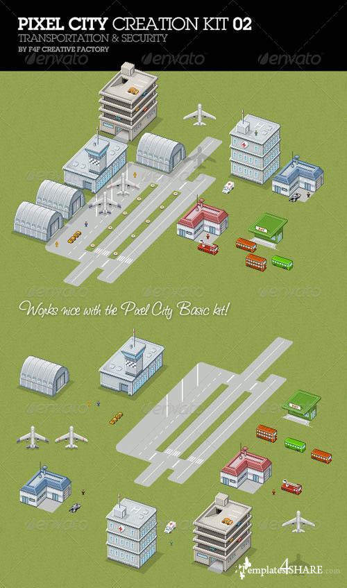 GraphicRiver Pixel City Creation Kit 02