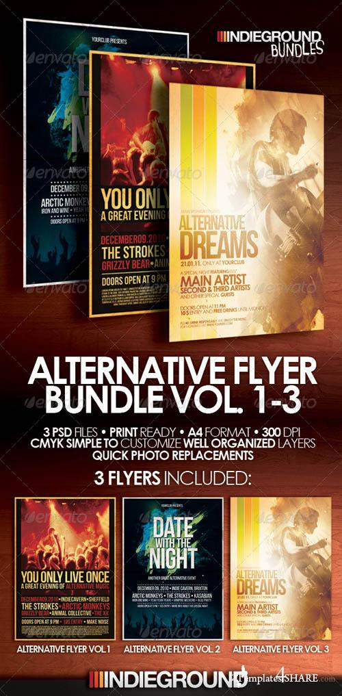 Graphicriver Alternative Flyer/Poster Bundle Vol. 1-3