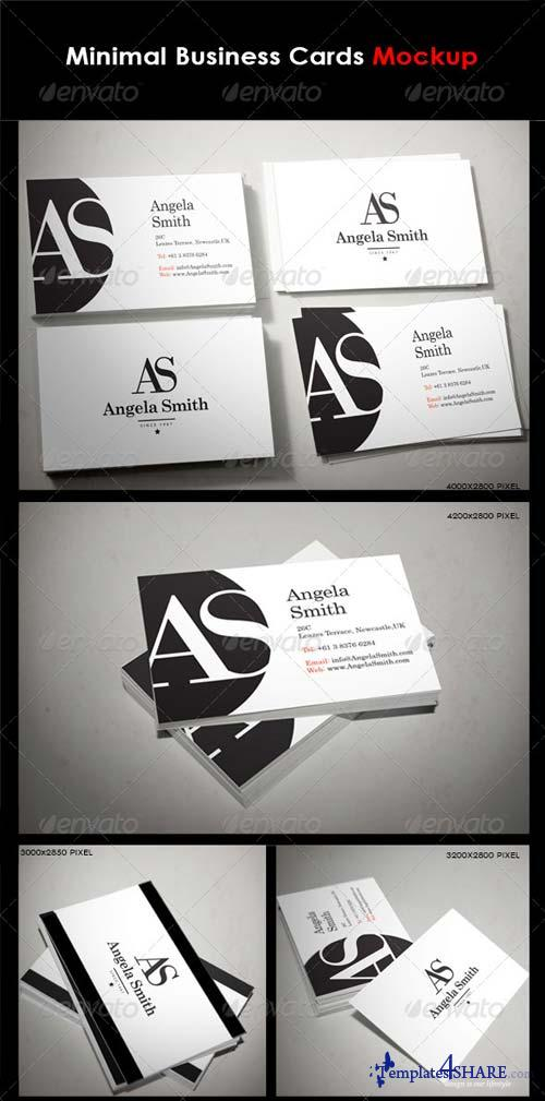 GraphicRiver Minimal Business Cards Mock-Up
