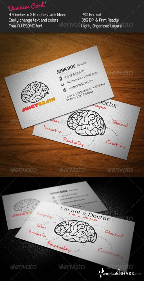 GraphicRiver Juicy Brain Business Card