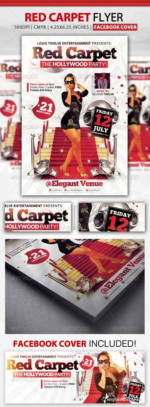 GraphicRiver Red Carpet Party | Flyer + Facebook Cover