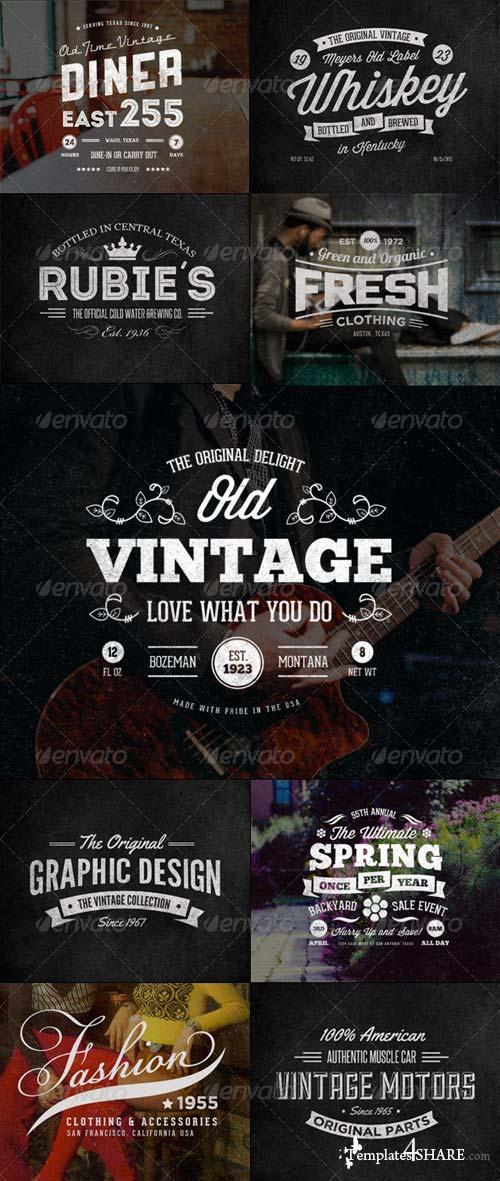 GraphicRiver 24 Vintage Labels and Logos Bundle