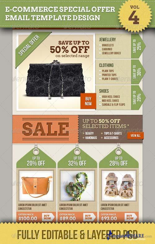 GraphicRiver E-commerce Offers Email Template Design Vol.4
