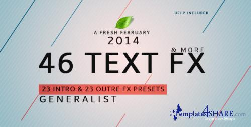 Text Fx Generalist ! - After Effects Presets (Videohive)