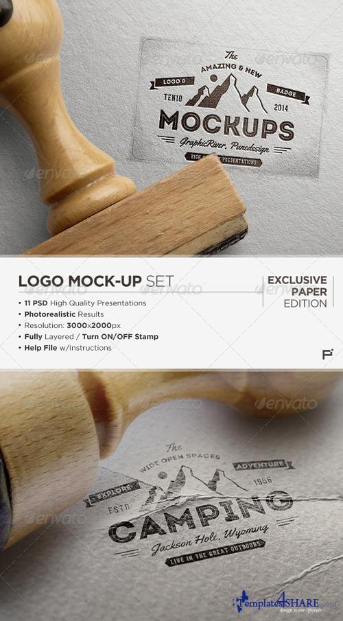 GraphicRiver Logo Mock-Up / Exclusive Paper Edition