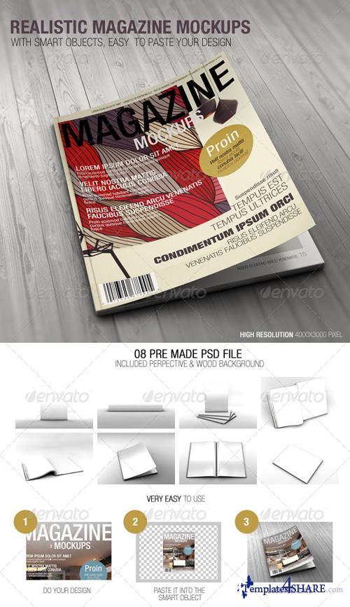 GraphicRiver Realistic Magazine Mockups