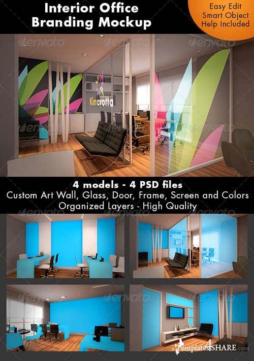 GraphicRiver Interior Office Branding Mockup