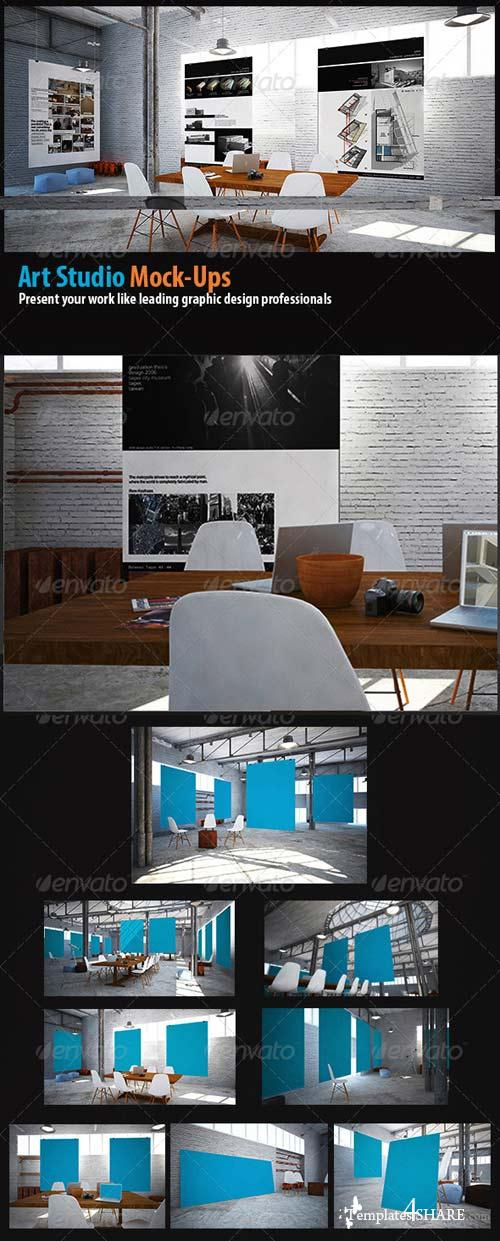 GraphicRiver Poster mockups Art Studio