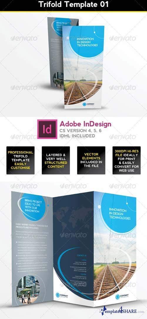 GraphicRiver Trifold Brochure Template 01 - InDesign Layout