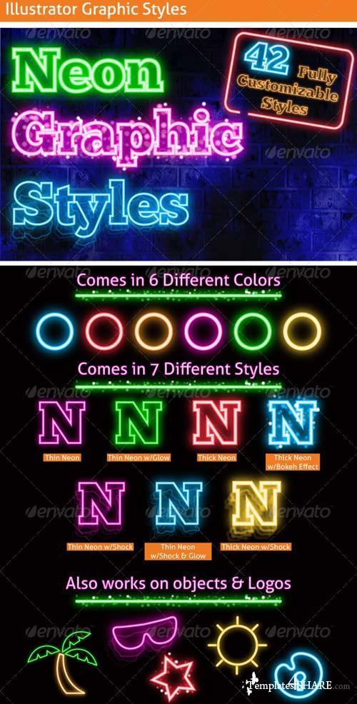 GraphicRiver Neon Graphic Styles