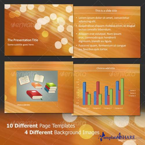 GraphicRiver Light Bubbles - Professional PowerPoint Template