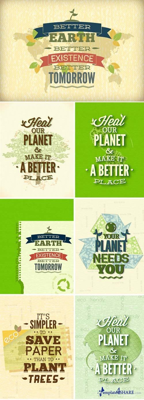 InkyDeals - 30 Eco & Organic Vector Illustrations