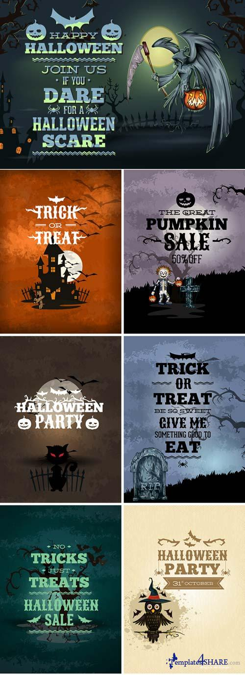 InkyDeals - 40 Halloween Vector Illustrations