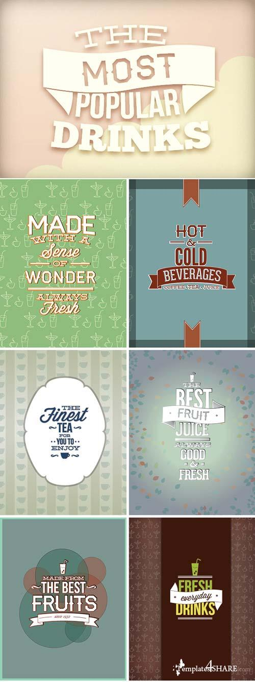 InkyDeals - 30 Drinks Vector Illustrations