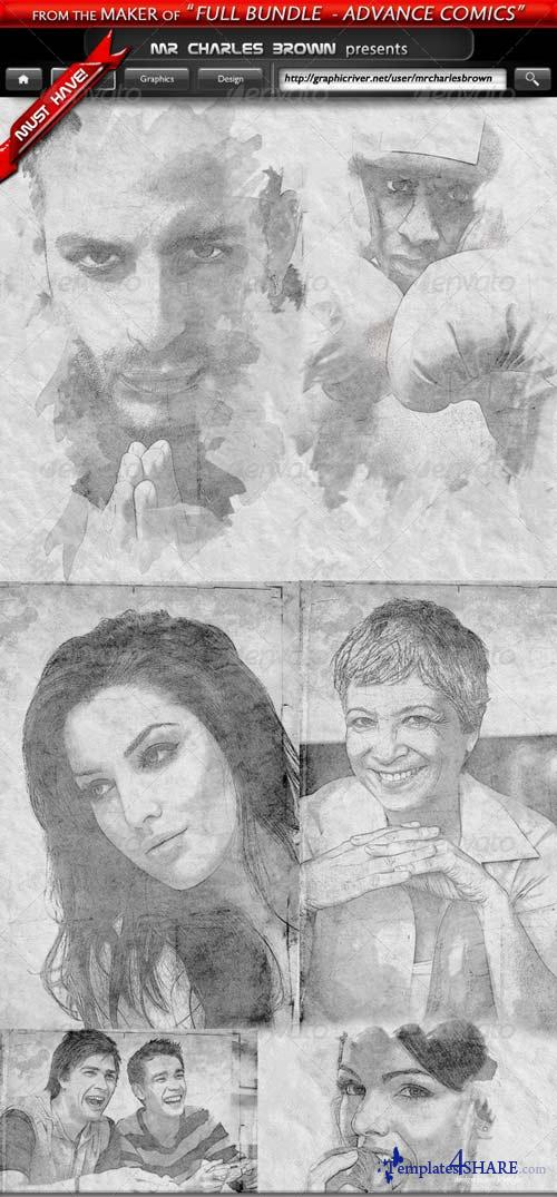 GraphicRiver Pure Art Hand Drawing 37 - Litho Stone Pencil