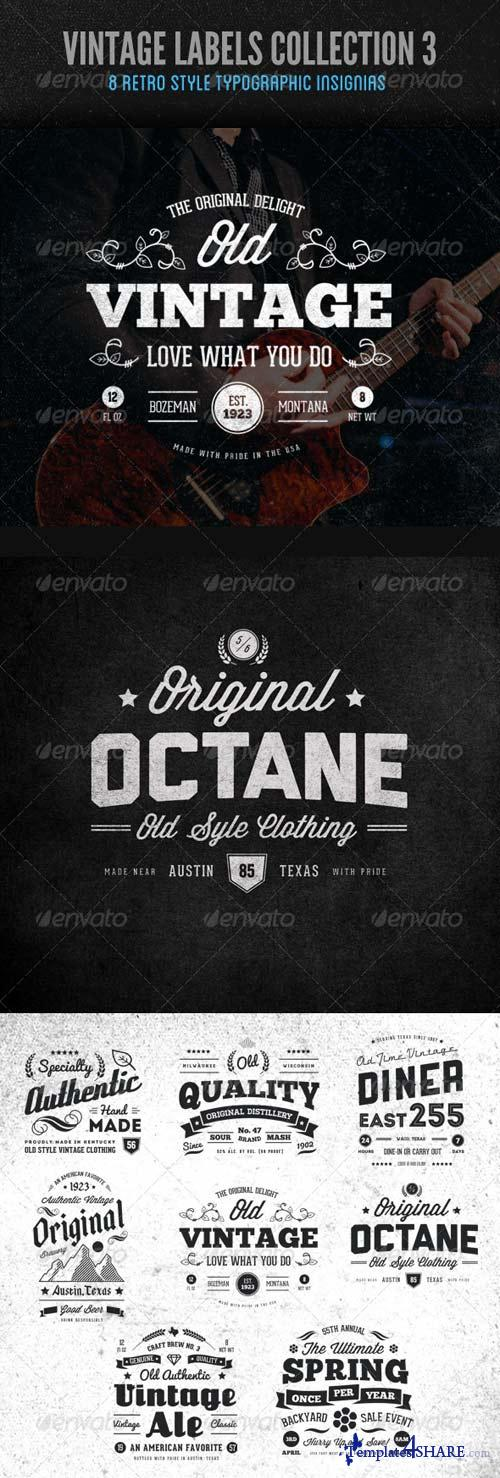 GraphicRiver Vintage Labels and Logos Collection 3