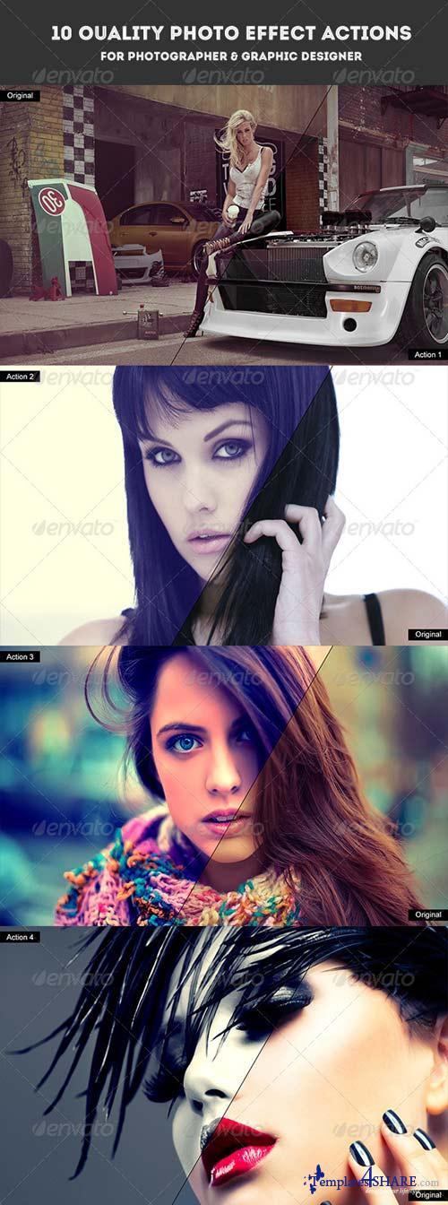 GraphicRiver 10 Quality Photo Effect Actions Photoshop