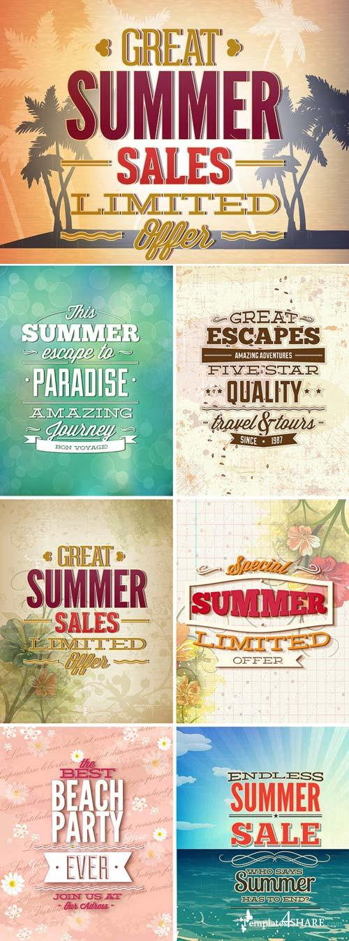 InkyDeals - 30 Summer Vector Illustrations