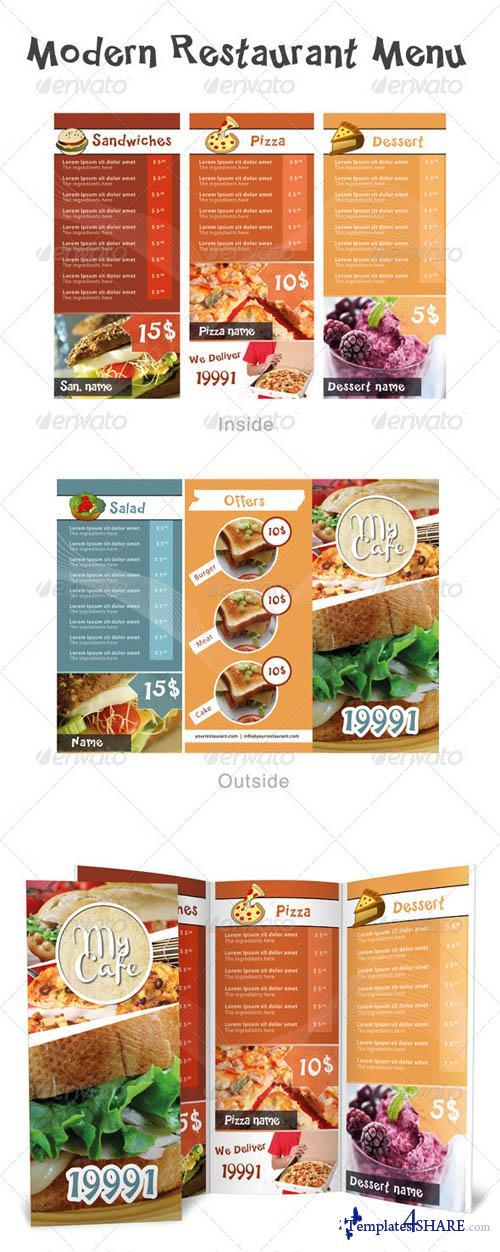 GraphicRiver Modern Restaurant Menu
