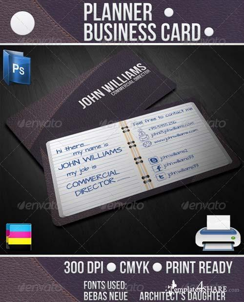 GraphicRiver Planner Business Card