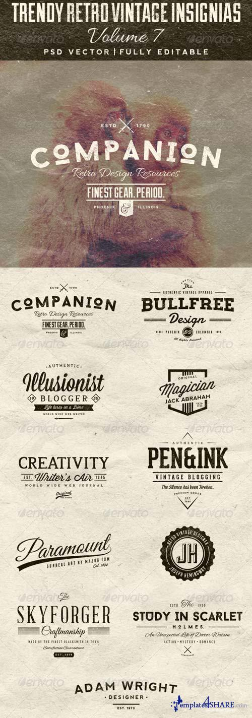 GraphicRiver Trendy Retro Vintage Insignias Volume 7