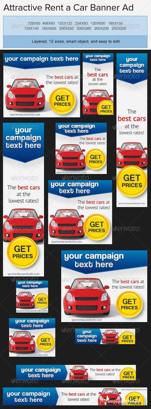 GraphicRiver Car Rentals Banner Ad