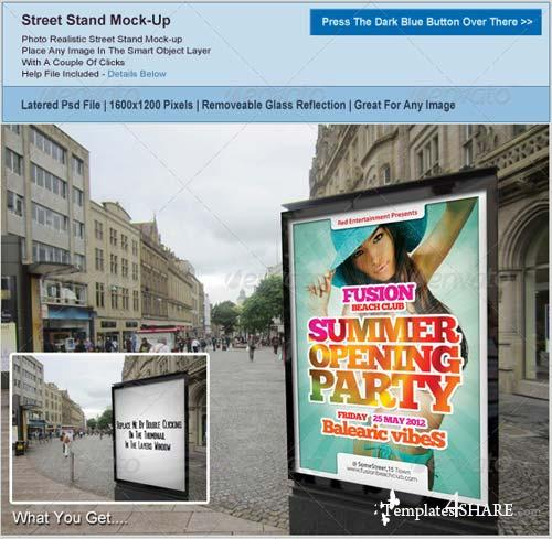 GraphicRiver Street Advertising Graphics Mockup