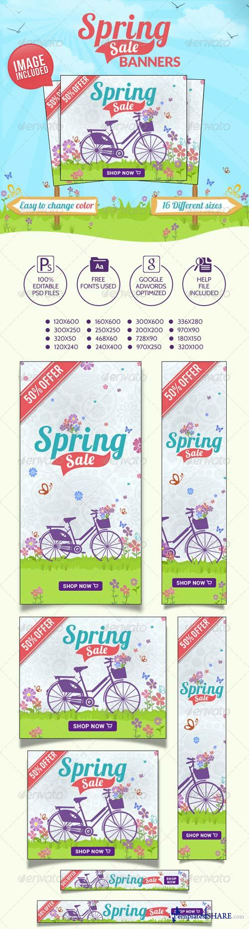 GraphicRiver Spring Sale Banners 7289775