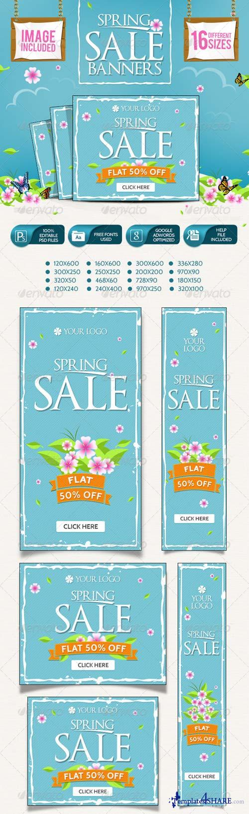 GraphicRiver Spring Sale Banners 7387174