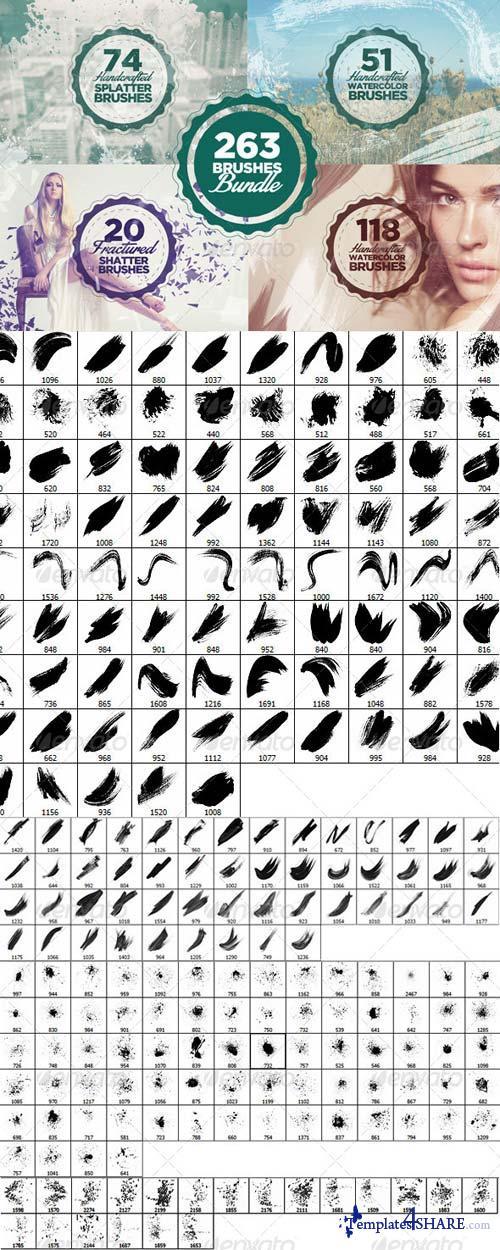 GraphicRiver 263 Photoshop Brushes Bundle