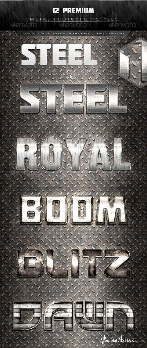 GraphicRiver 12 Premium Metal Styles 7313529